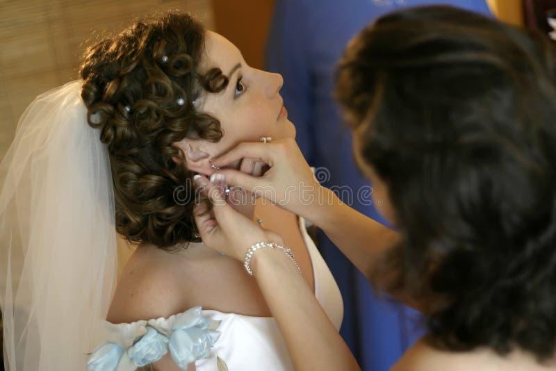 Ropa de la novia imagen de archivo libre de regalías