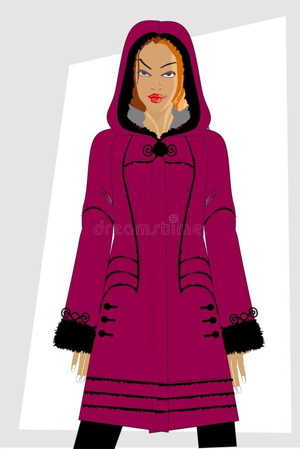 Ropa de las mujeres del invierno. stock de ilustración
