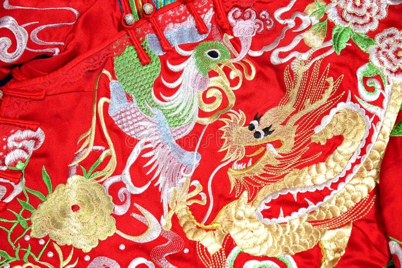 Ropa formal de la boda china de la tradición fotografía de archivo