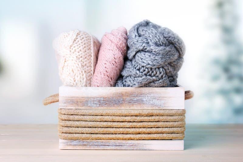 Ropa hecha punto Géneros de punto de lana fotos de archivo libres de regalías