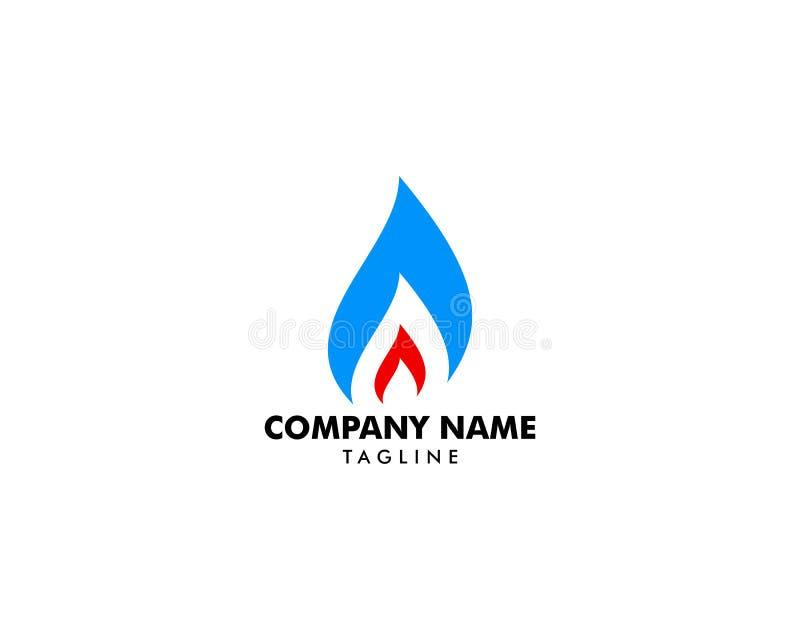Ropa I Gaz logo projekta wektoru szablon ilustracja wektor