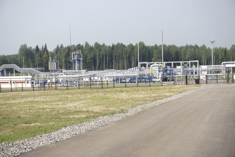 Ropa i gaz przemysł w potężnym HDR przerobu skutku obrazy royalty free