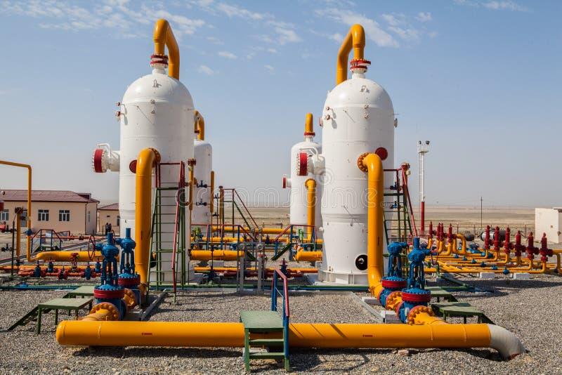 Ropa i gaz refinator kompresor zdjęcie stock