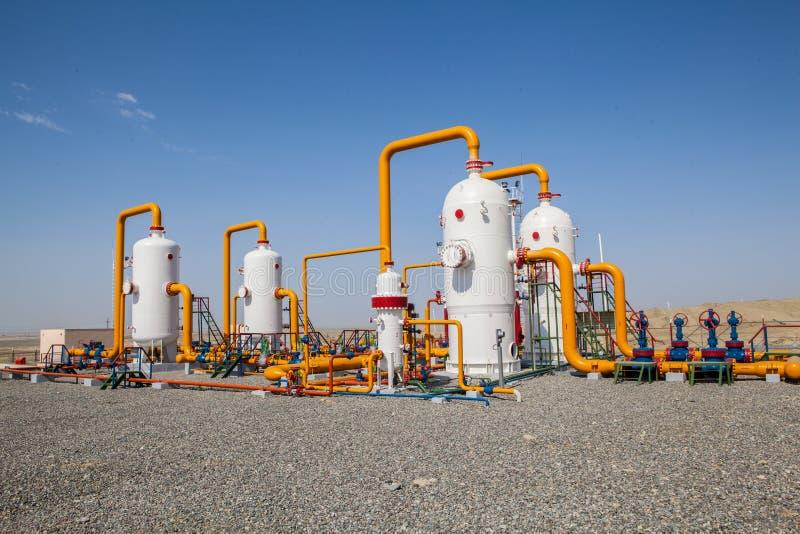 Ropa i gaz refinator kompresor zdjęcie royalty free