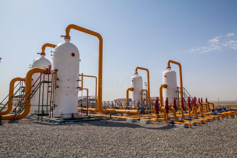 Ropa i gaz refinator kompresor fotografia royalty free