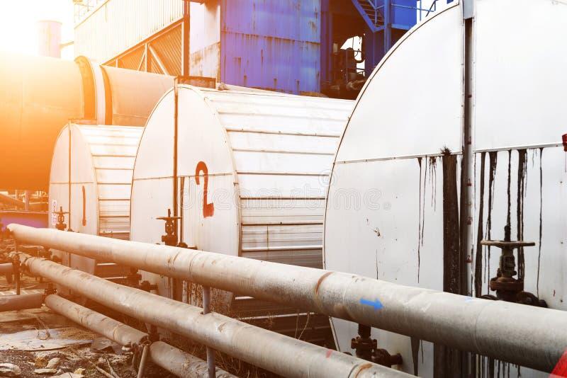 Ropa i gaz zakład przetwórczy obraz stock