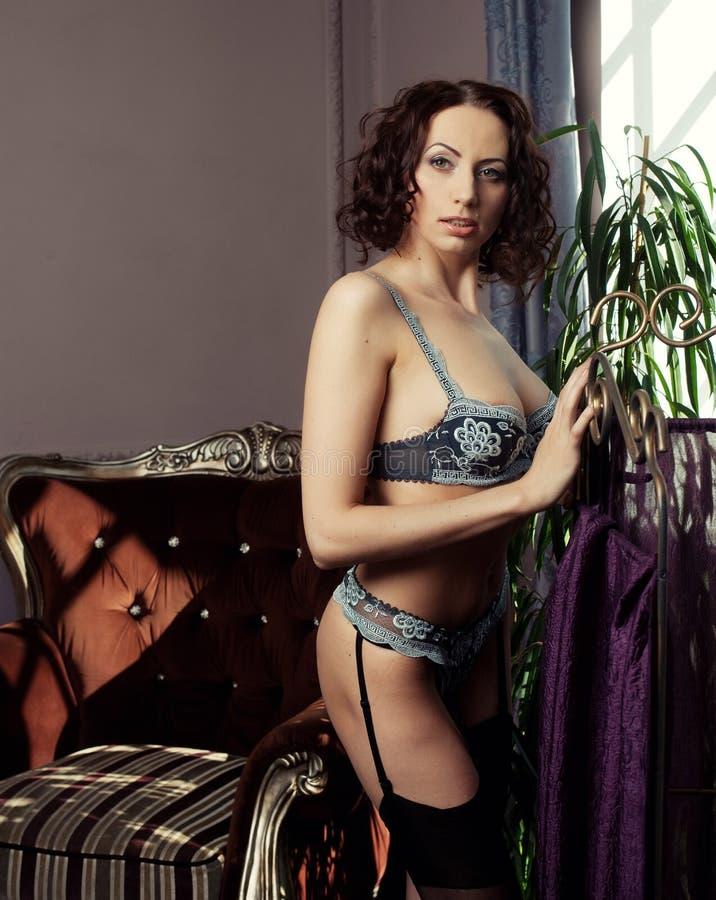 Download Ropa Interior Que Lleva De La Mujer Morena Joven Foto de archivo - Imagen de belleza, brunette: 42426398
