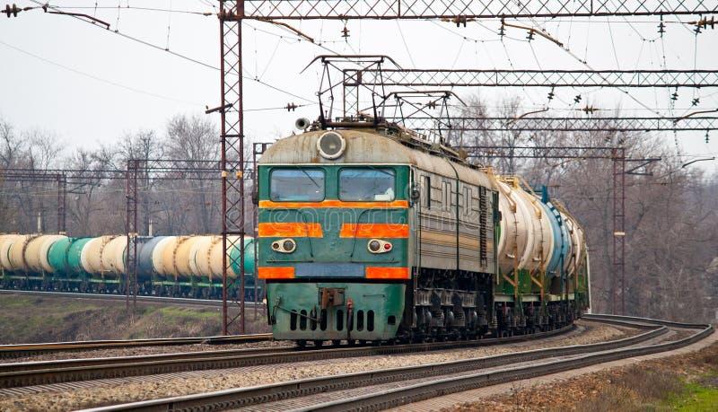 ropa naftowa frachtowy pociąg zdjęcie royalty free