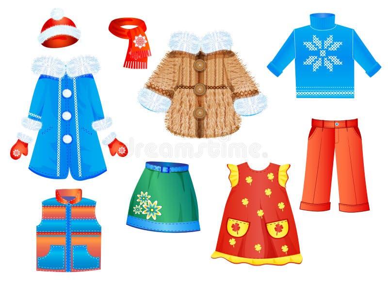 ropa para las muchachas ilustración del vector