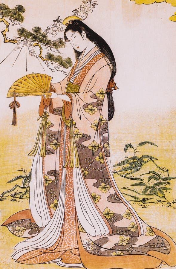 Ropa tradicional japonesa imagen de archivo libre de regalías