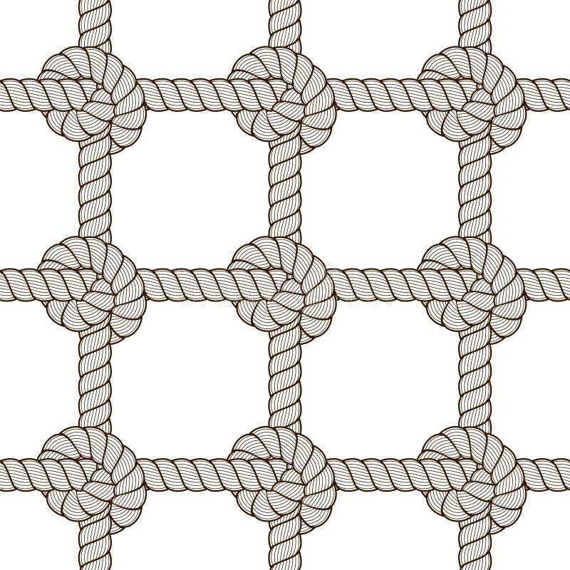 Rope безшовная картина, ультрамодная предпосылка обоев вектора Endle иллюстрация штока