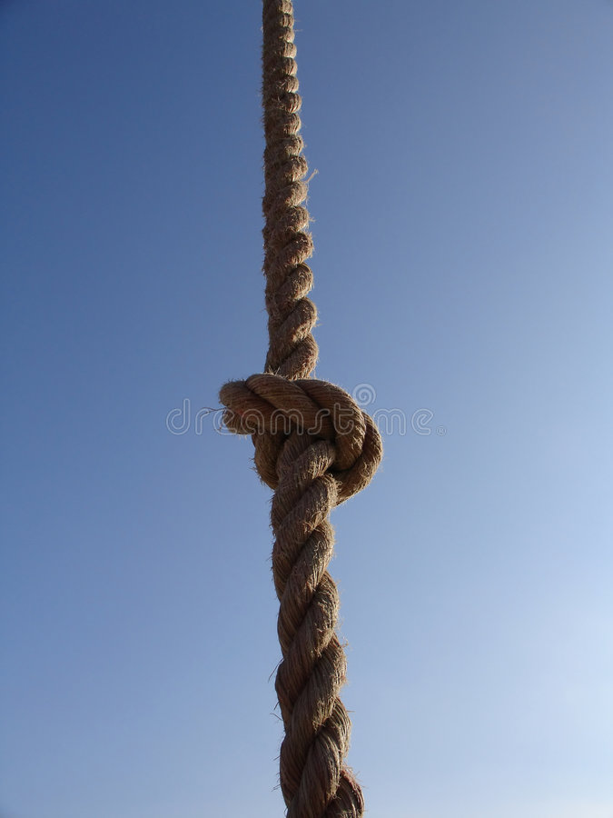 Download Rope Against The Sky Royalty Free Stock Images - Image: 191549