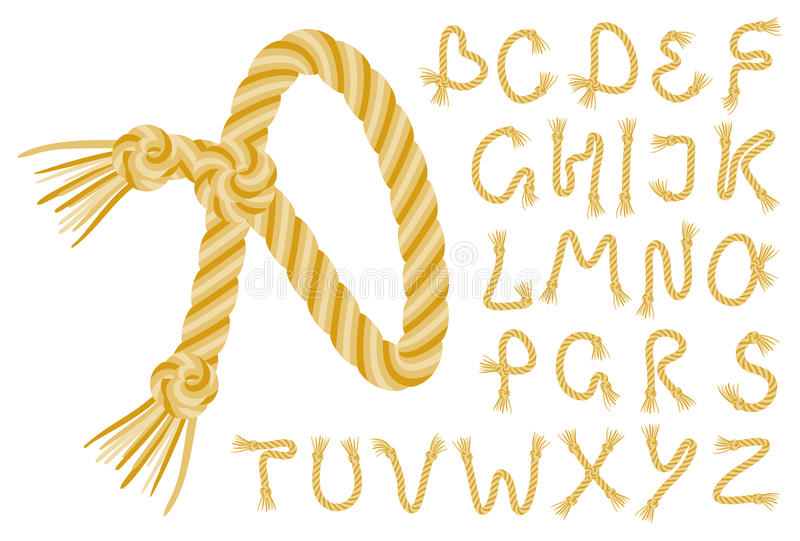 Download Rope alphabet stock vector. Image of collection, alphabet - 19209596