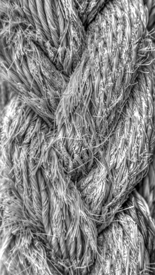 Rope background in black and white stock image