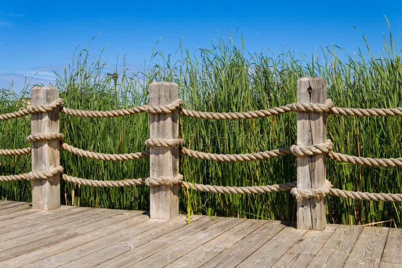Rope Bannister Stock Photo Image Of Summer Boardwalk