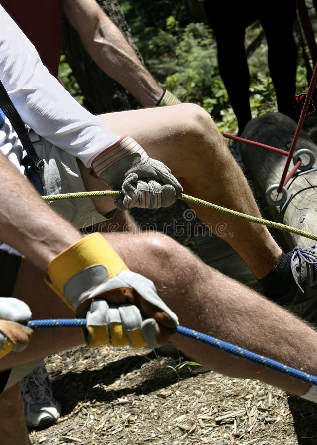 The Rope Belay stock photos