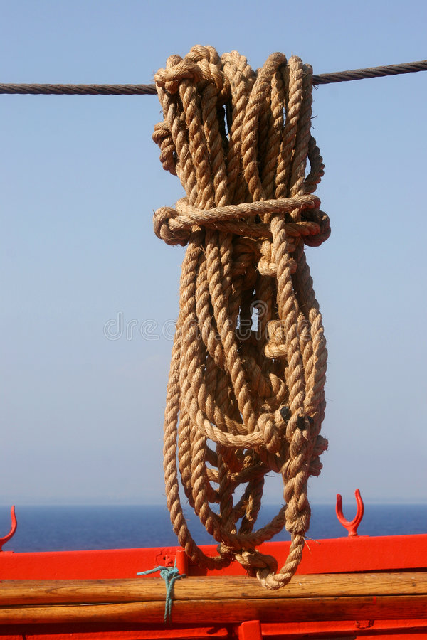 Rope for the boat. royalty free stock images