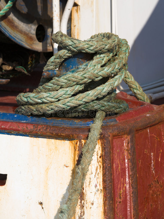 Download Rope on a boat stock image. Image of lace, sailing, nautical - 3369353