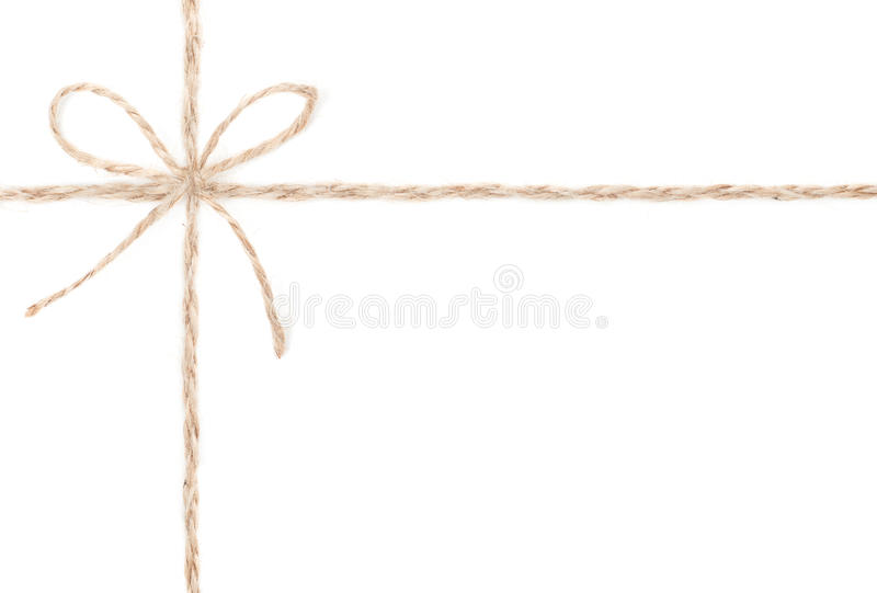 Download Rope Bow. Jute Wrapping Collection For Present. Close Up. Royalty Free Stock Images - Image: 28672559