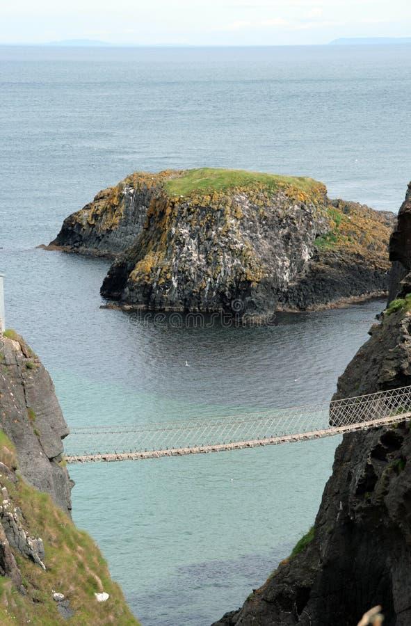 Rope bridge royalty free stock photos