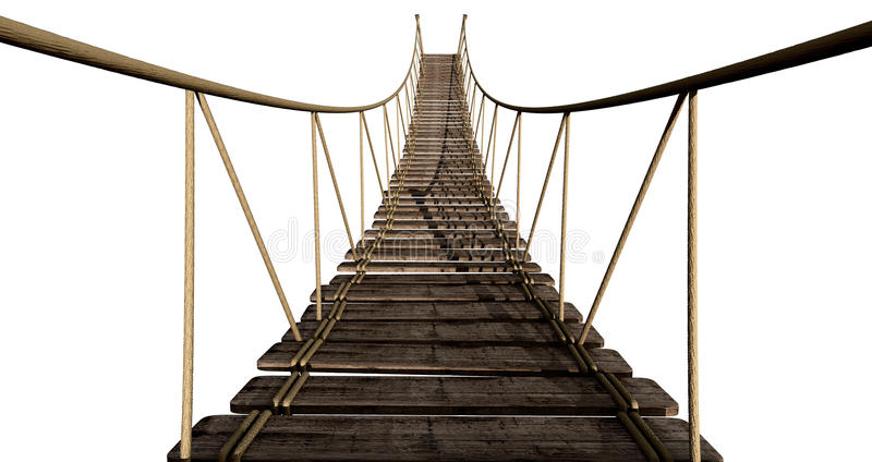 Download Rope Bridge Close Up stock illustration. Image of navigate - 25668014