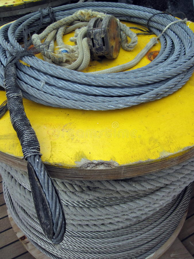 Download Rope and cable spool stock photo. Image of sail, fiber - 38486478
