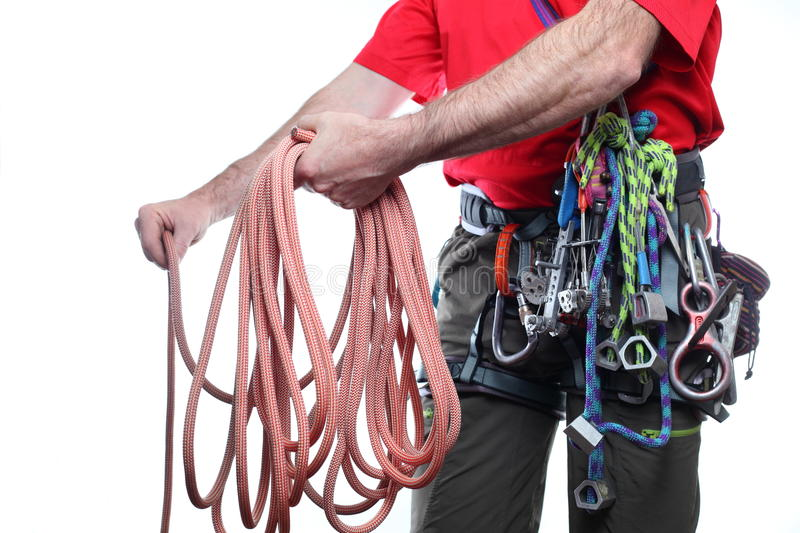 Download Rope and climber stock photo. Image of natural, cooperate - 27569726