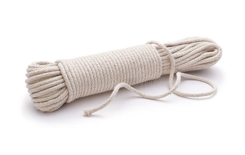 Rope Cord Unravelled. On a white background royalty free stock images