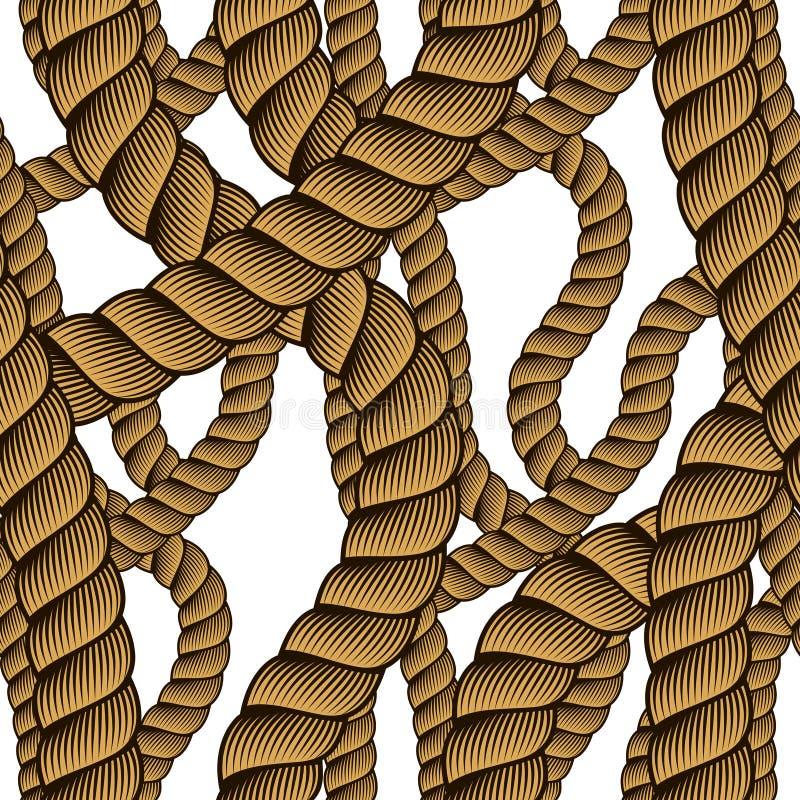 Rope el modelo inconsútil, fondo de moda del papel pintado del vector neatness ilustración del vector
