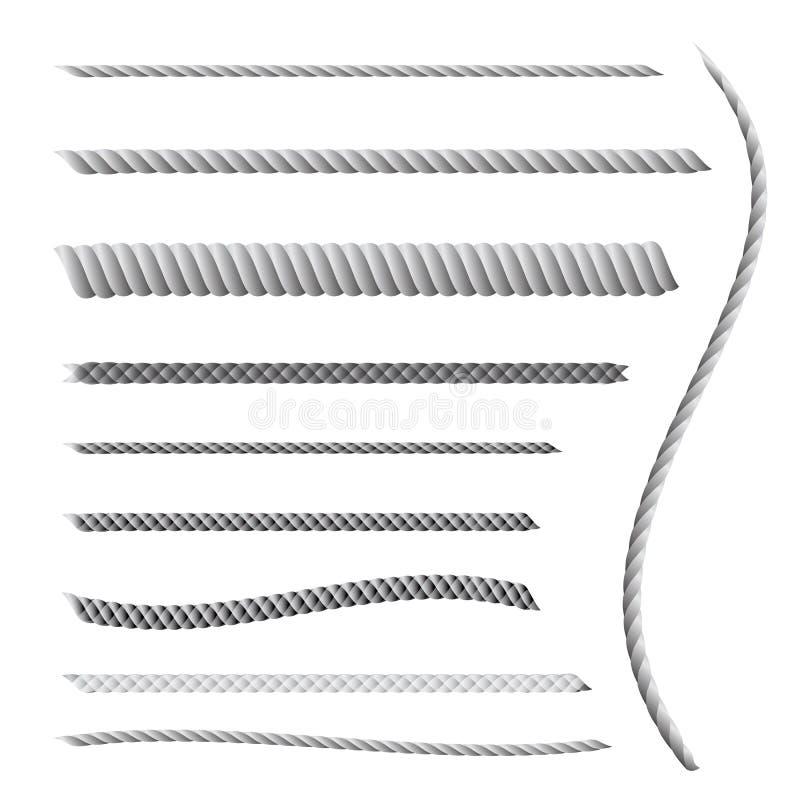 Rope eller tvinna royaltyfri illustrationer