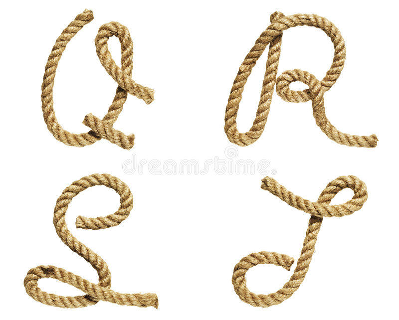 Download Rope Forming Letter A, B, C, D Stock Image - Image: 7206695