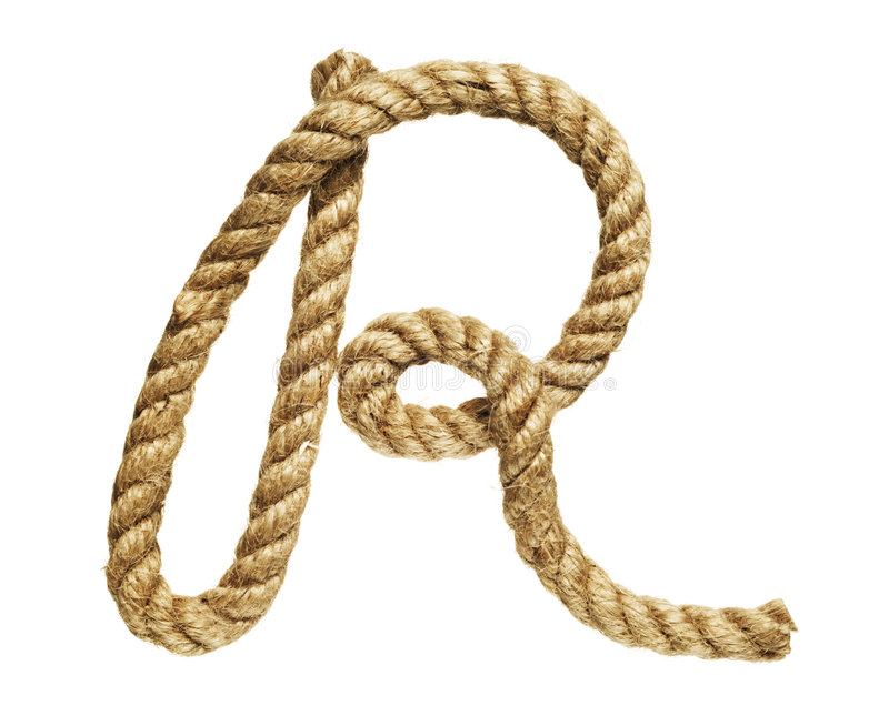 Rope forming letter C royalty free stock photography