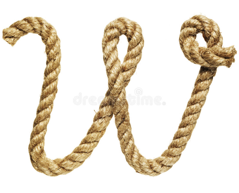 Rope forming letter C royalty free stock image