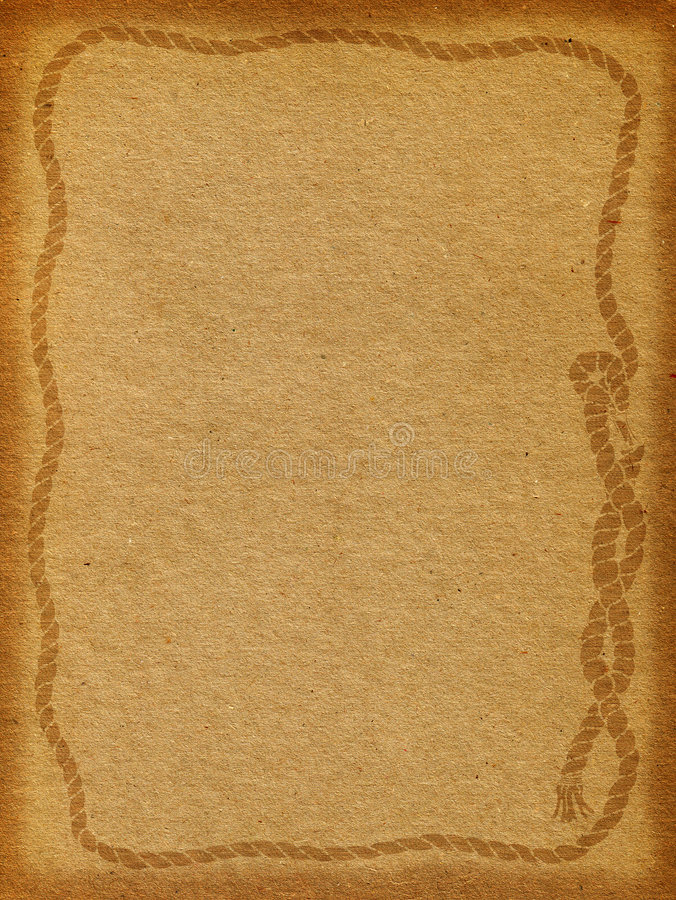 Rope Frame Background. Brown textured background with rope frame