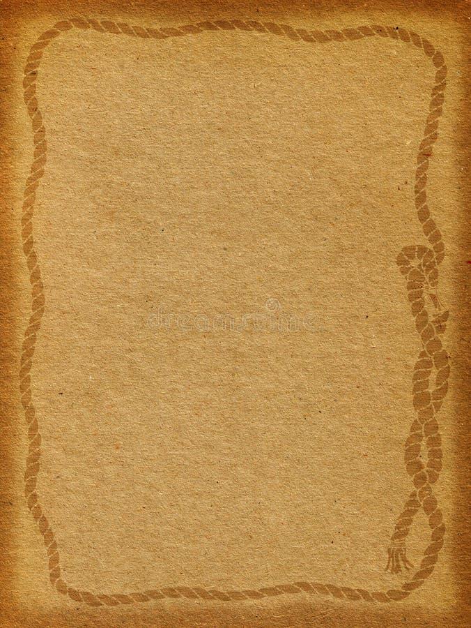 Rope Frame Background stock image