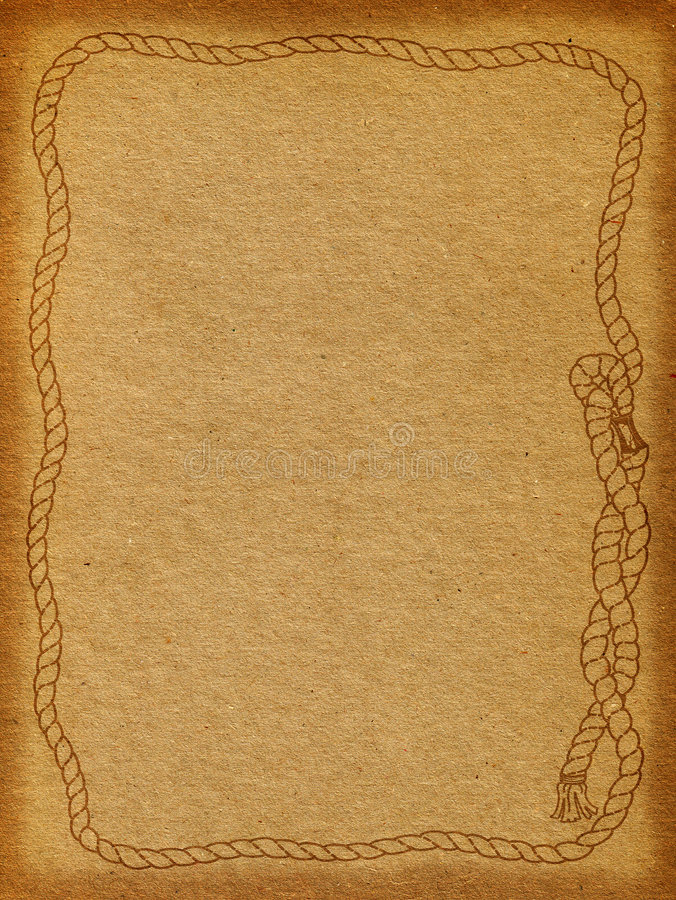 Rope Frame Background. Rope frame on a brown textured background