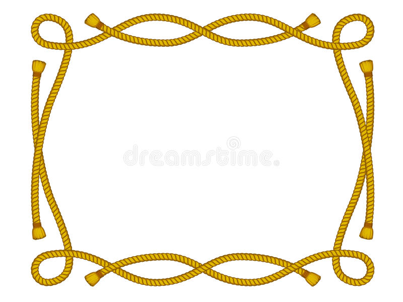Download Rope Frame Isolated On White Stock Vector - Illustration of roping, isolated: 28198479