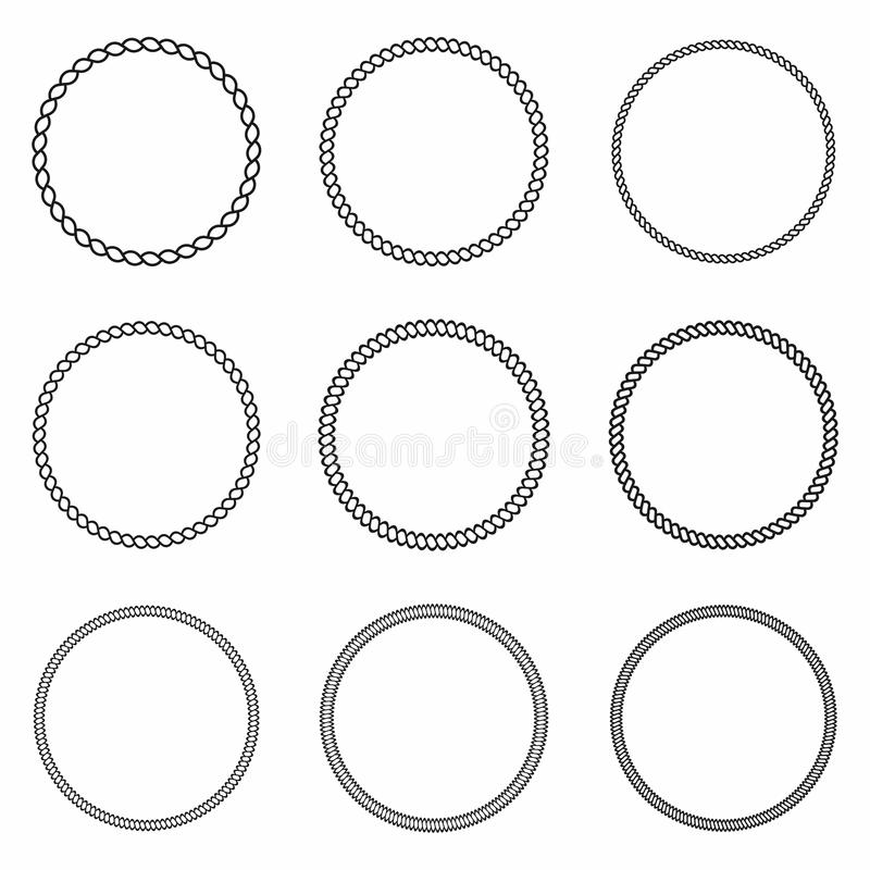 Free Rope Frame. Set Of Round Vector Frames From Nautical Rope. Round Marine Rope For Decoration Royalty Free Stock Photos - 96474348