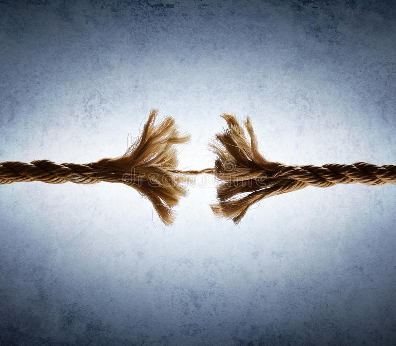 Rope Frayed In Tension royalty free stock photos