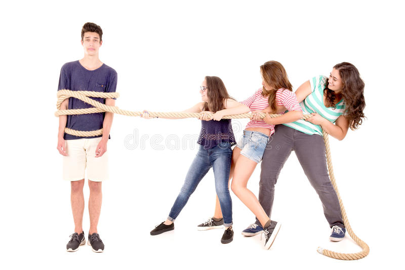 Rope game stock image