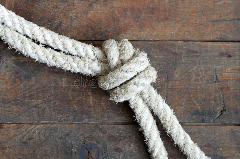 Rope With Knot stock photography