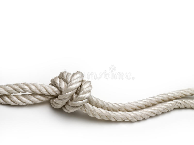 Rope with a knot stock images