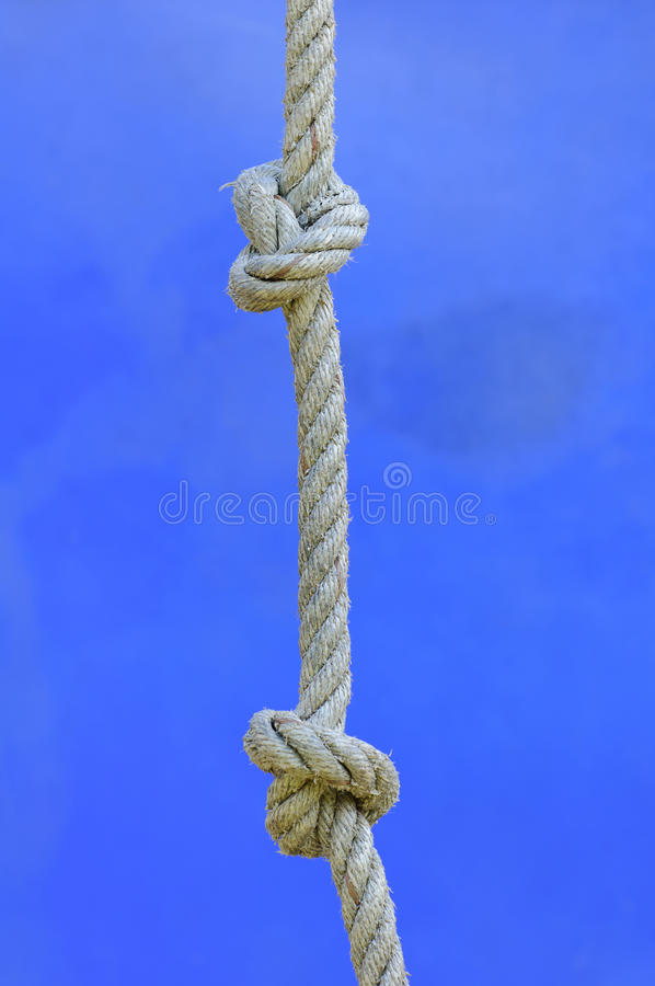 Download Rope with knot stock photo. Image of cotton, scout, fasten - 27598784