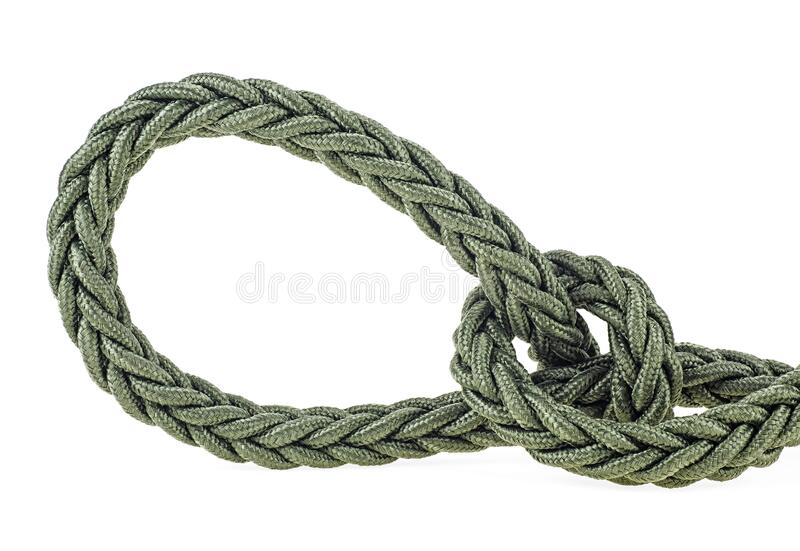 Rope knot isolated on white background. Loop shape. Rope knot isolated on a white background. Loop shape stock photos