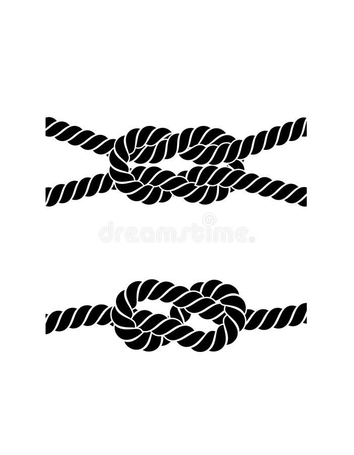 Free Rope Knot On A White Background Stock Photo - 43995290