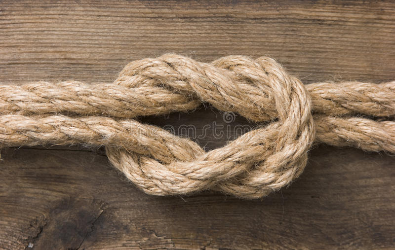 Rope With Knots Royalty Free Stock Images