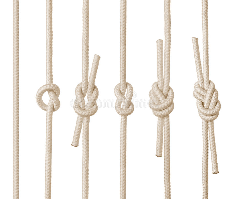 Rope Knots royalty free illustration