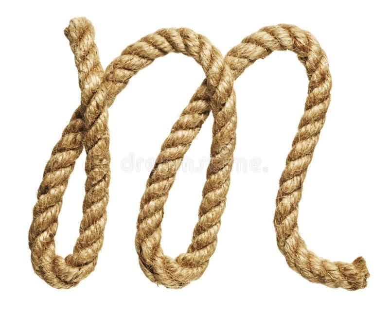Rope la letra de formación M imagen de archivo libre de regalías