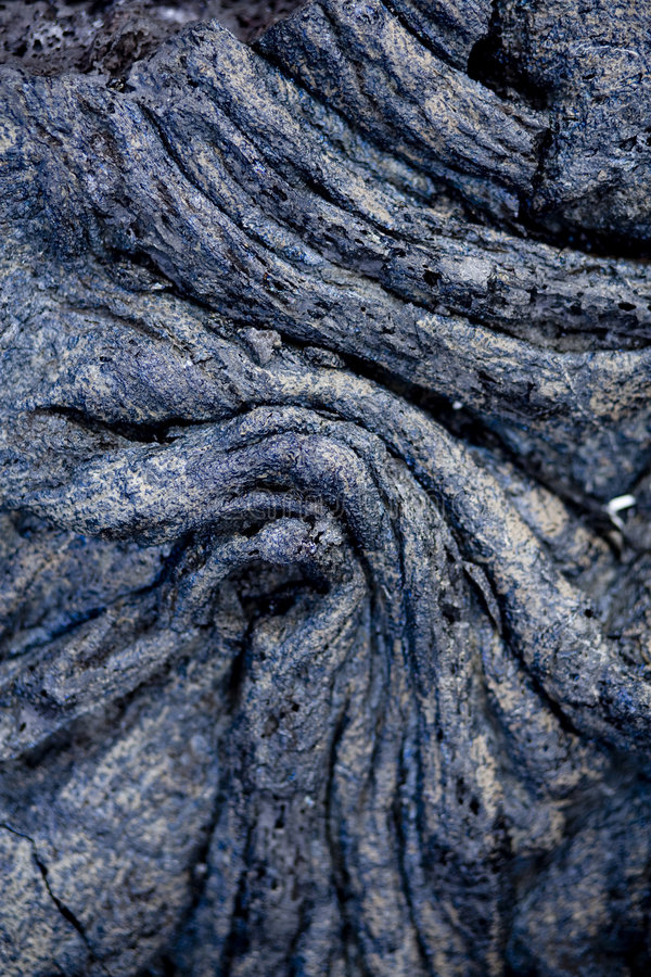 Rope Lava 9837. Rope Lava a form of pahoehoe lava stock photo
