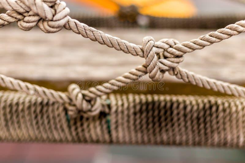Rope le noeud de texture/corde de noeud/texture de indication noeud en gros plan de corde photographie stock libre de droits